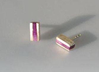 Ohrstecker - Ohrstecker Farbverlauf -  Veilchenblauviolett - ein Designerstück von SCHMUCKausPORZELLAN bei DaWanda