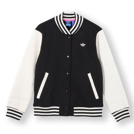 #adidas Originals Style Varsity Jacket - Black/White