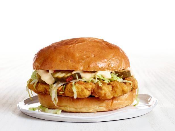 Get Crispy Pork Tenderloin Sandwich Recipe from Food Network