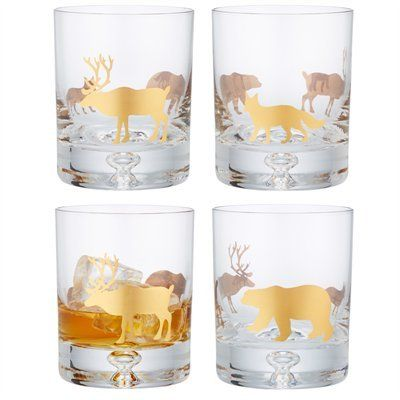 Our bestselling lowball tumblers with Canadian wildlife printed in gold are an instant conversation starter.