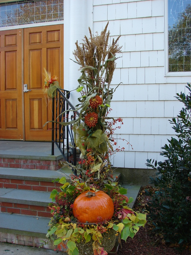 Fall Harvest Design at church entrance