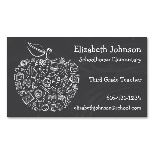 1000 images about teacher business card templates on for Business card template mac
