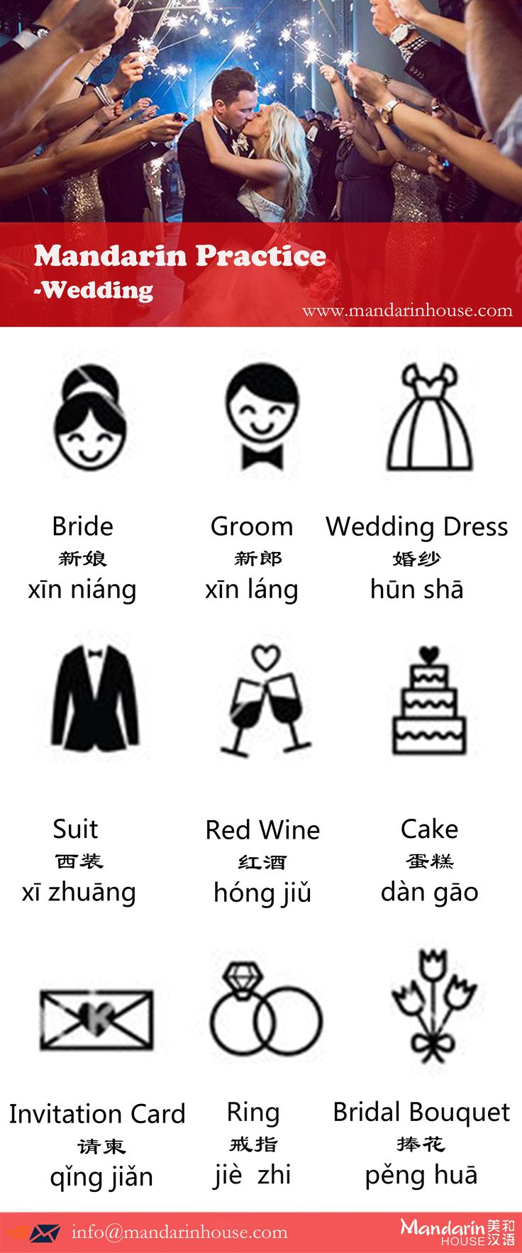 Wedding in Chinese.For more info please contact: bodi.li@mandarinhouse.cn The best Mandarin School in China.