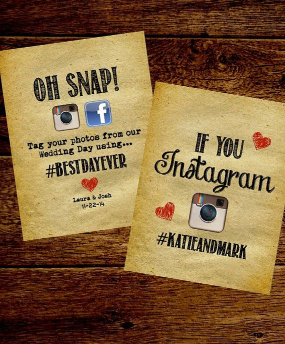 Rustic Wedding Instagram Sign. Oh Snap Customizable and Printable Instagram Wedding Sign. Hashtag us! Personalized DIY Wedding Signs... by rusticandruffly on Etsy