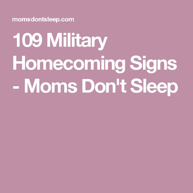 109 Military Homecoming Signs - Moms Don't Sleep