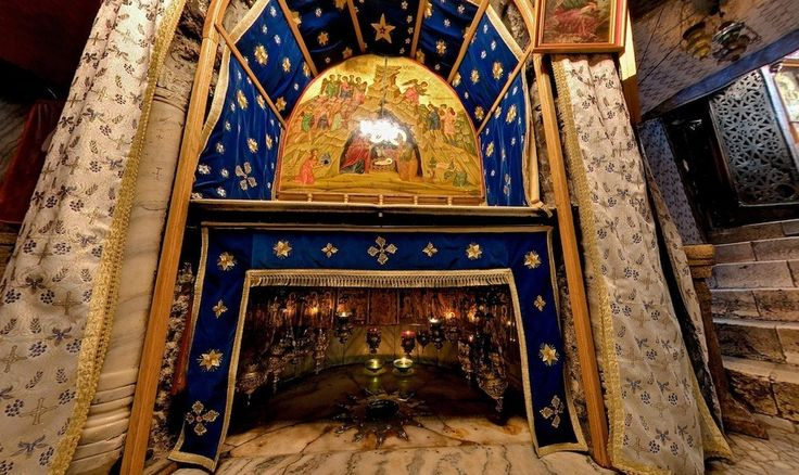 The Church of the Nativity in Bethlehem - it is built over the cave that tradition marks as the birthplace of Jesus of Nazareth.