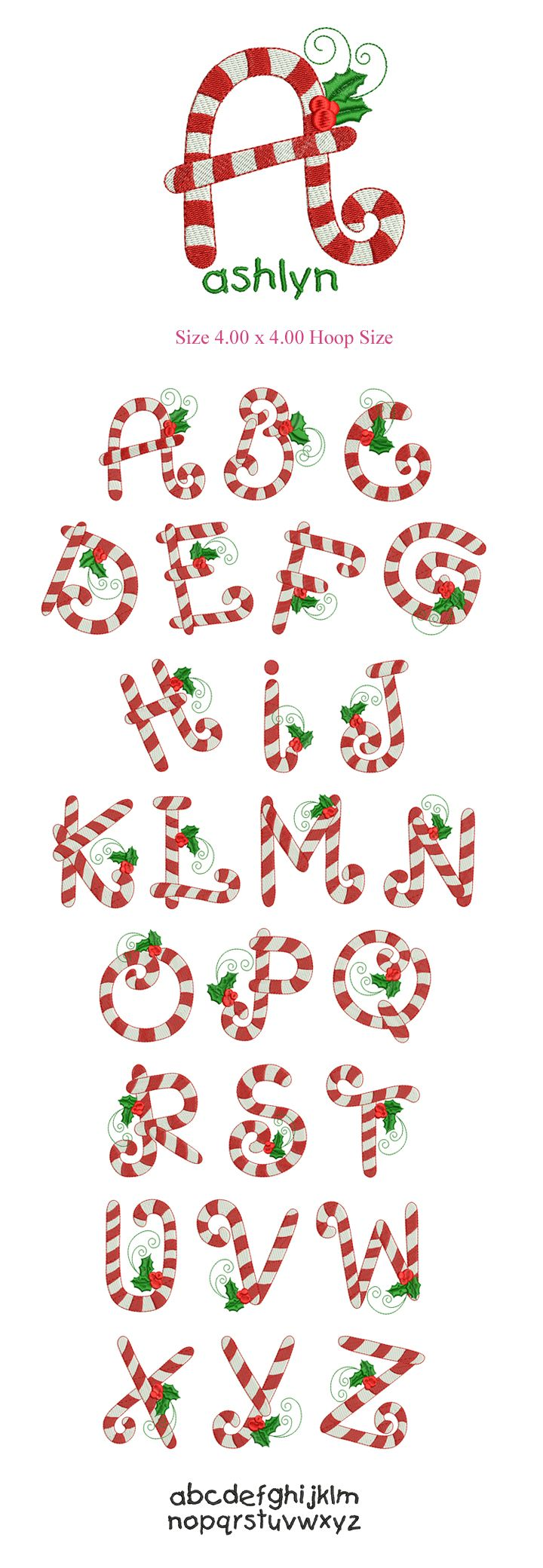 X'mas Candy Stick Mono Font Collection