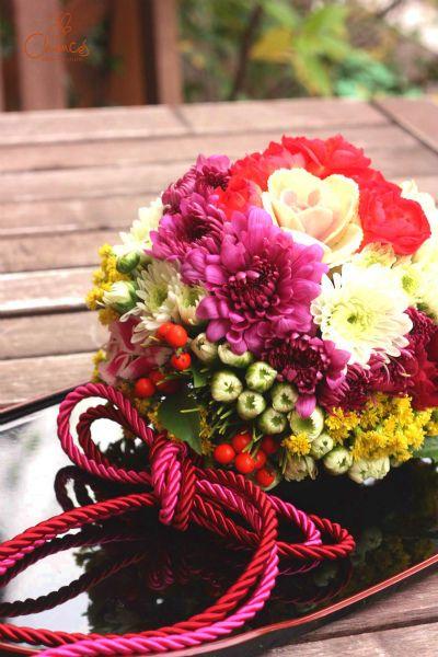 Chances News #NewYear #お花 #flower #お稽古 #lesson #可愛い #マム #handmade #ボール #フラワーアレンジメント #北堀江 #大阪