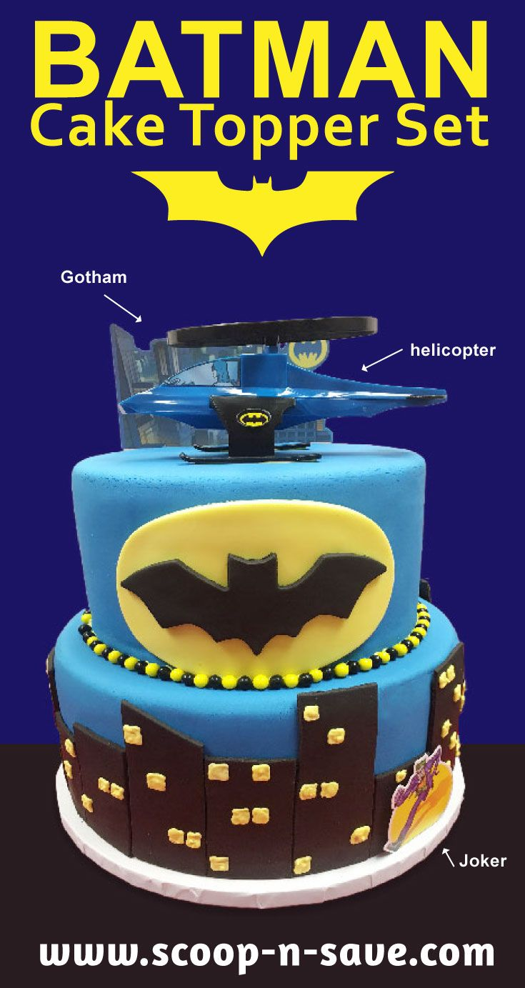 This Batman Cake Topper Set Makes It Easy To Make A Spectacular Birthday For The Boy Or Girl In Your Life Birthdaycakes Birthdayboy