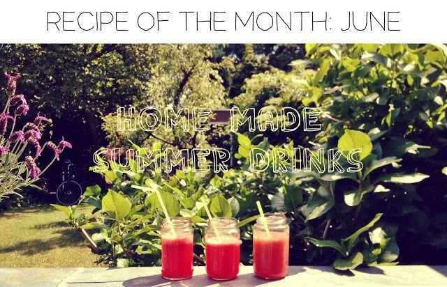Home made zomerse frambozenlimonade en rode ice tea