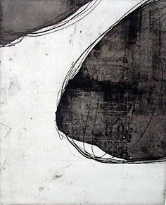 'Destination' by Australian artist & printmaker Angela Hayson. Sugarlift aquatint, etching & open bite, edition of 4, 23.8 x 19.5 cm. via the artist's site