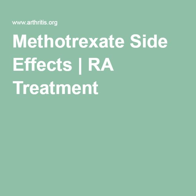 Methotrexate Side Effects Ra Treatment Medical Issues