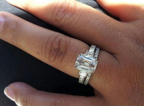 find this pin and more on wedding rings tacori emerald cut diamond