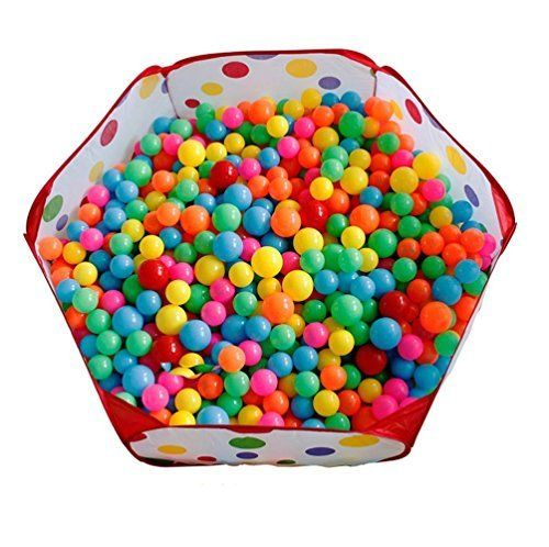 GreeGear Large Portable and Durable Polka Dot Kids Playpen Ball Pit Indoor and Outdoor Easy Folding Play House Children Toy Play Tent for Kids -- Check this awesome product by going to the link at the image.