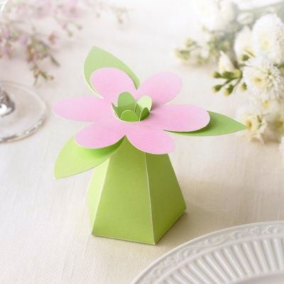 Spring Flowers Wedding Favor Boxes