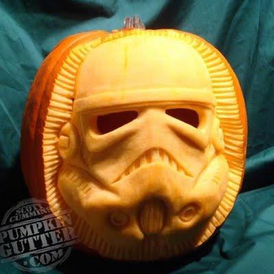 Star Wars pumpkin! Sculpted by Scott Cummins (via @Aimée Gillespie Lemondée Gillespie Lemondée Gillespie Giese)