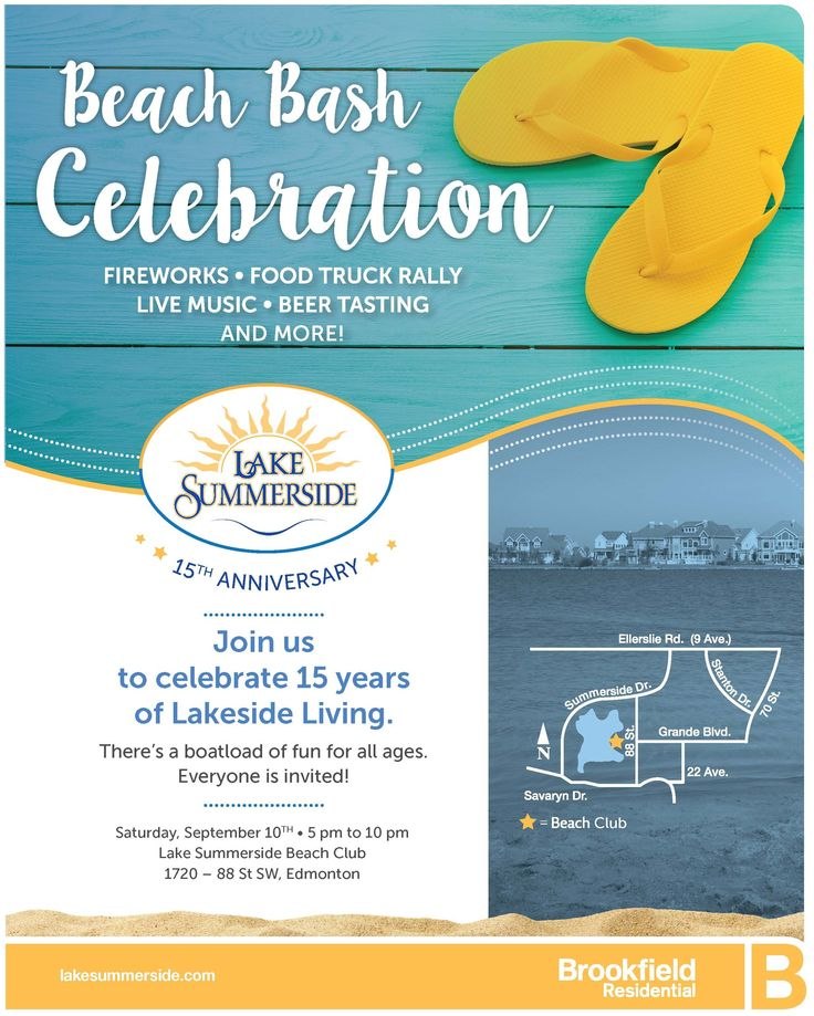 Did you know Lake Summerside is turning 15 this September?! We're celebrating 15 years of lakeside living on September 10th and everyone's invited!