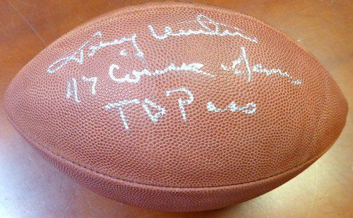 Johnny Unitas Signed NFL Football 47 Consec Games TD Pass Colts - PSA/DNA Authenticated - NFL Footballs ** Click image to review more details.