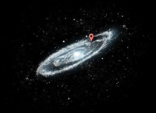 Isso porque a Via Láctea é imensa. Aqui é onde você vive nela.
