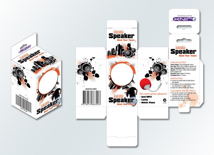 Jinx Mini Speaker package design by www.conceptfactory.com.au