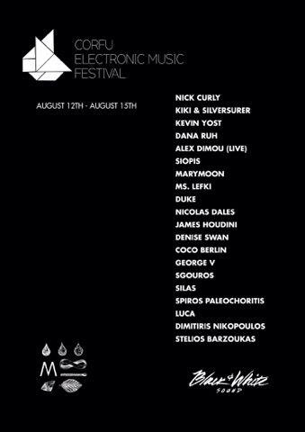 1o Φεστιβάλ Ηλεκτρονικής Μουσικής, o παγκόσμιος πολιτιστικός θεσμός, από το 2017 και στην Κέρκυρα