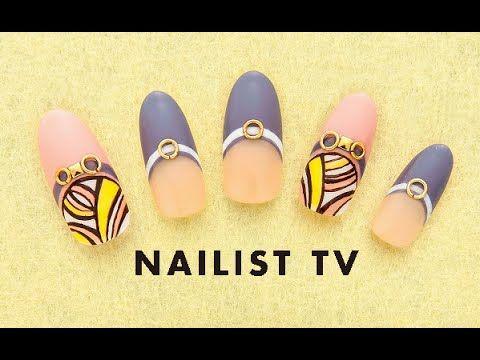 nail art tutorial プッチ柄ネイルアートの作り方 - YouTube