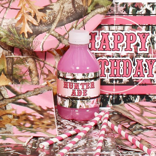 camouflage party | Pink Camo Party Perfect Package for 8, FREE shipping offer, 50% off ...