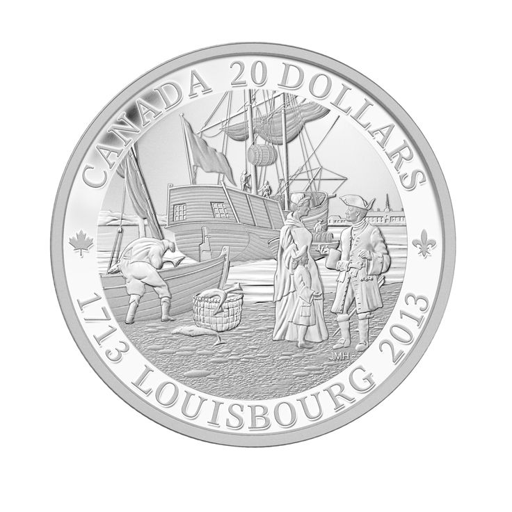 Fine Silver Coin - 300th Anniversary of Louisbourg - Mintage: 8500 (2013)