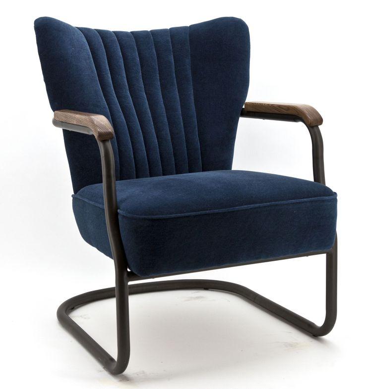 Milo fauteuil blauw - Eleonora