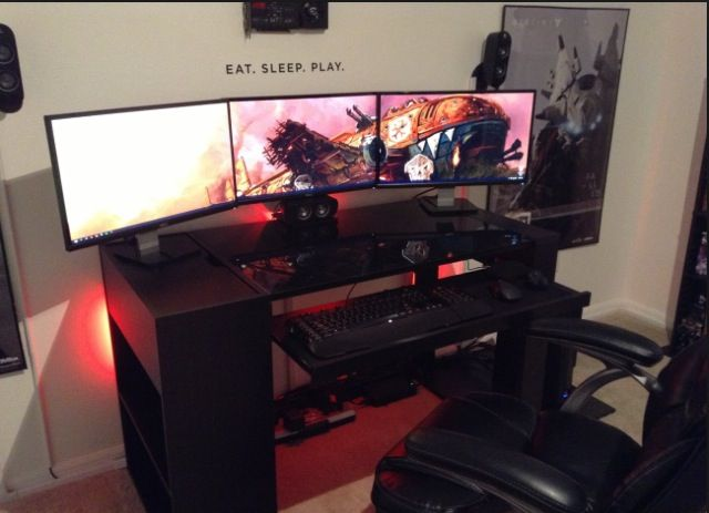 22 best images about gaming rooms setup on pinterest Cool gaming room designs