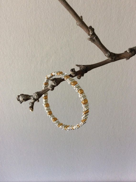 Tube thin 24K gold plated 925 sterling silver by EliaLaNoire