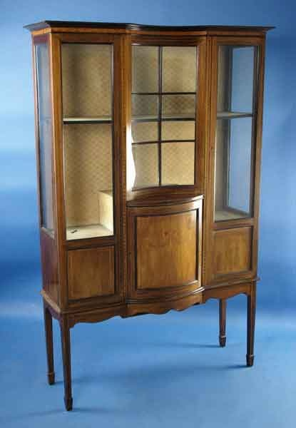 Antique Edwardian Mahogany Display Cabinet For Sale | Antiques.com | Classifieds