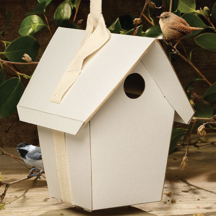 Each DIY biodegradable birdhouse is easy to assemble and becomes a blank canvas for creativity!