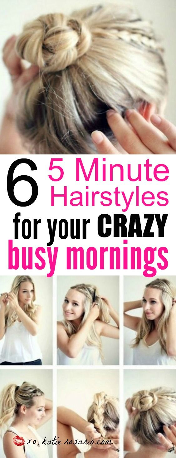 the 25+ best 5 minute hairstyles ideas on pinterest | beach hair