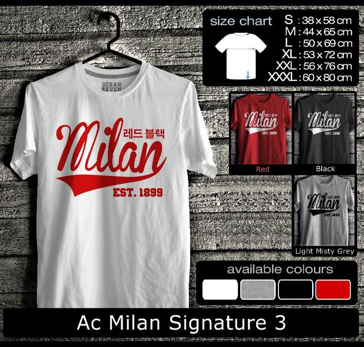 Kaos AC Milan FootBall Club | Kaos Milanisti 1