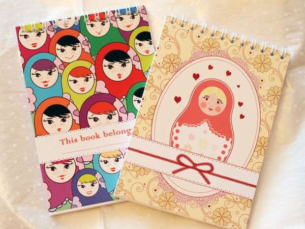 Marvelous Matryoshka-Inspired Notebooks - Anna Sokolova Puts a Fresh Spin on an Old Concept