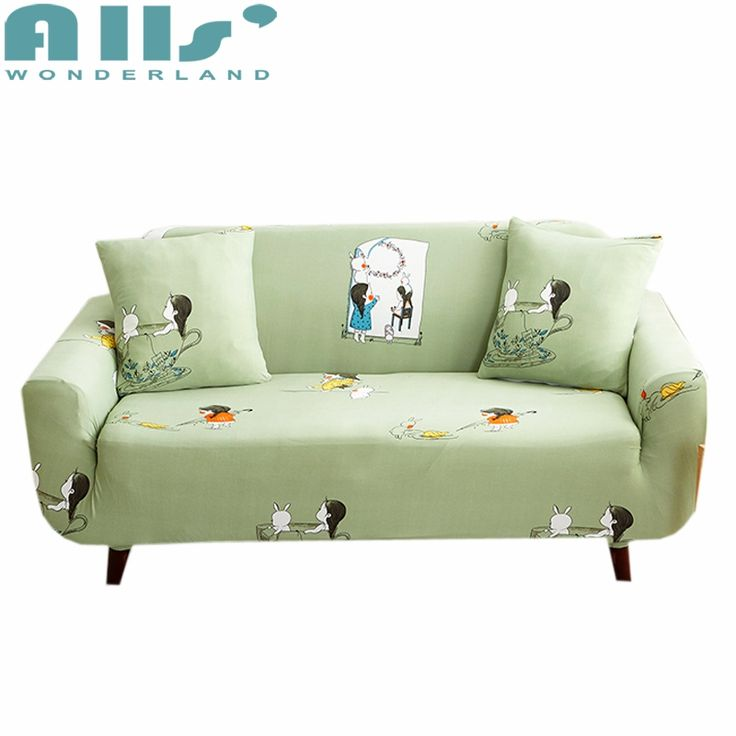 Phenomenal Sale Cartoon Bunny And Little Girl Couch Cover Soft Green Dailytribune Chair Design For Home Dailytribuneorg