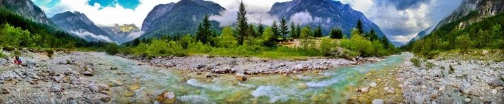 River Soča in Trenta valley: Region Slovenia, River Soča, Trenta Valley