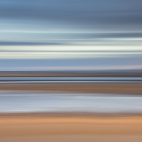 Abstract Image of the View from Alnmouth Beach to the North Sea, Alnmouth, England, UK