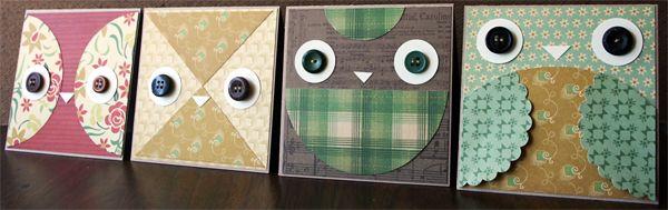 Owl Card Designs | Julie Comstock l Cosmo cricket