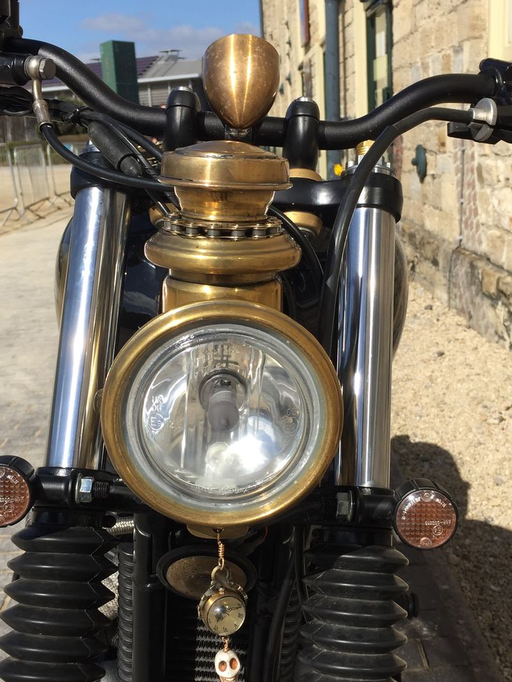 Vintage Carriage Lamp Converted To A Headlight Triumph