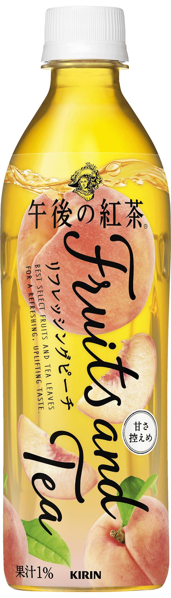「キリン 午後の紅茶 Fruits and Tea リフレッシングピーチ」商品画像