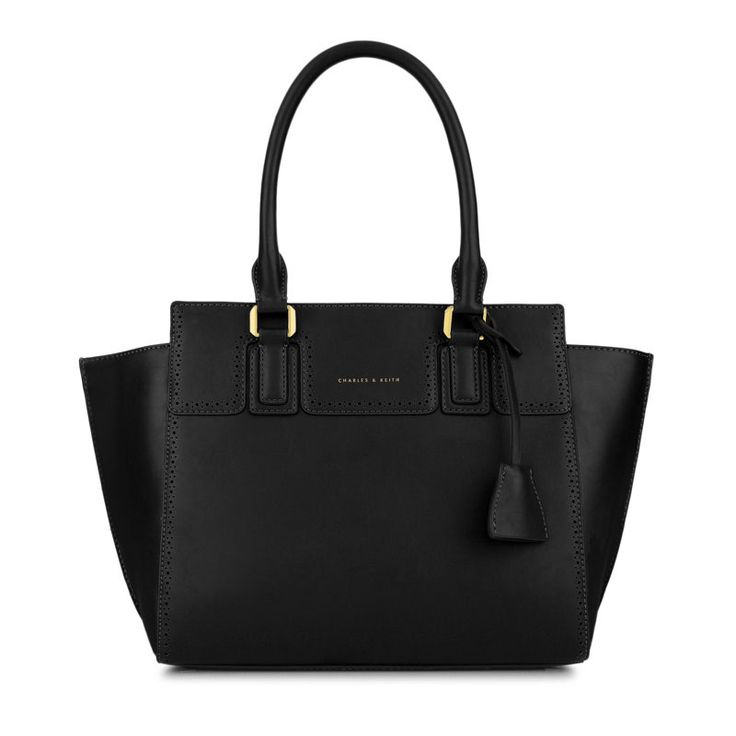 Trapeze Work Tote - Black - Tote - Bags | CHARLES & KEITH