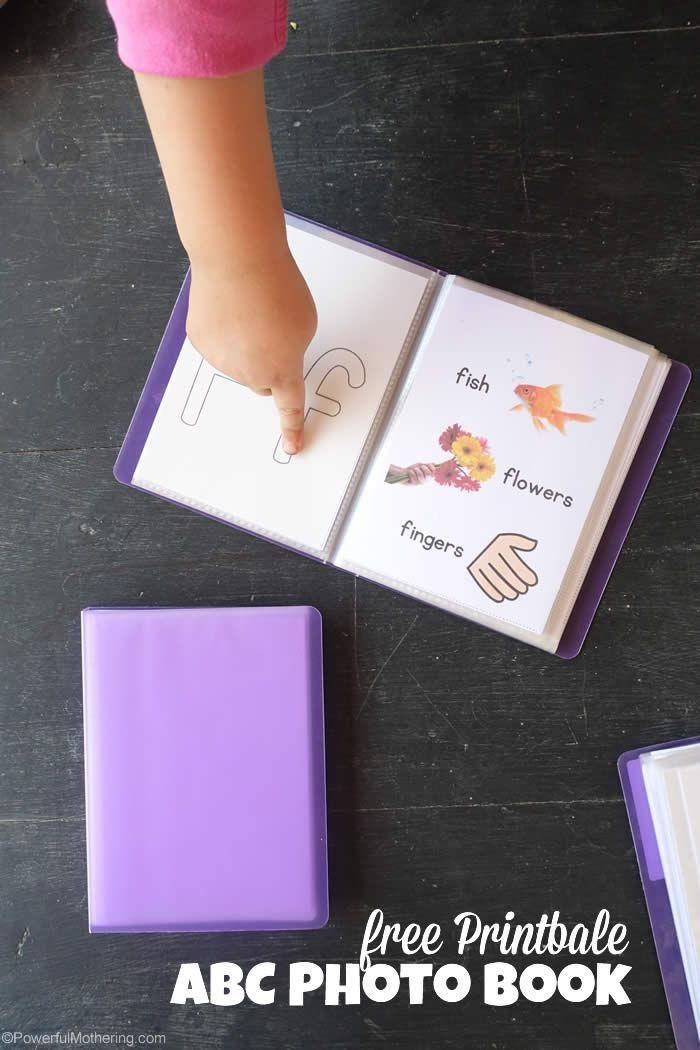 Print this easy to use ABC photo book to learn or brush up on the ABC! The ABC photo book is also great to encourage sounding of letters with the provided pictures.