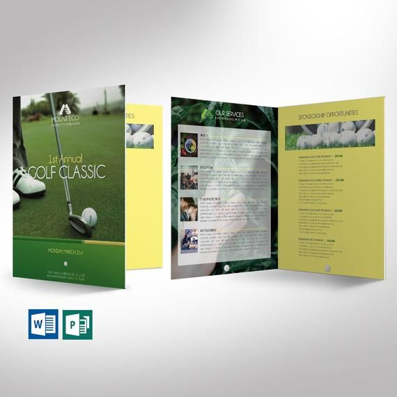 Charity Golf Booklet Word Publisher Template 8 Pages Etsy Publisher Templates Booklet Word Template