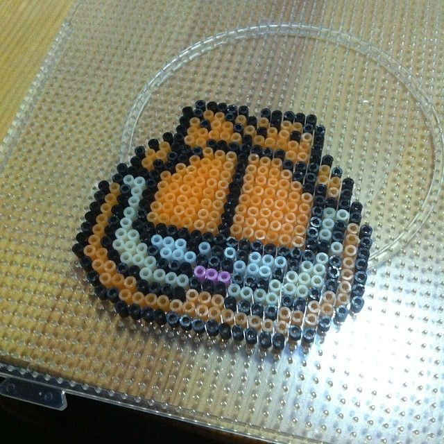 Garfield perler beads by singlesusu