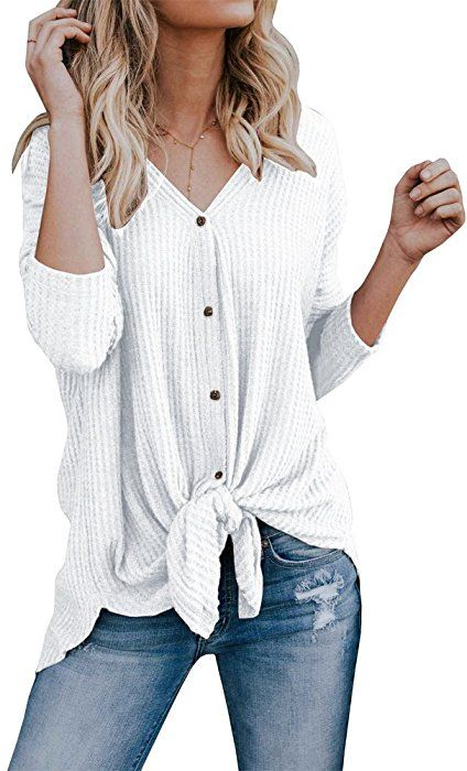 f302b3e5e2982 Doubleal Women's Lightweight Cardigan Sweater Fall V Neck Knitted Top at  Amazon Women's Clothing store:
