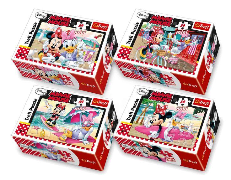Set van 40. De geliefde Disney-ster Minnie Mouse en haar vrienden worden gekenmerkt op deze mini-puzzels. Vier verschillende designs en 54 puzzelstukjes vereist concentratie. Vrijwel verpakt in een kartonnen doos, kunnen deze puzzels worden vervoerd met een minimum aan benodigde ruimte. Puzzelen plezier is gegarandeerd!