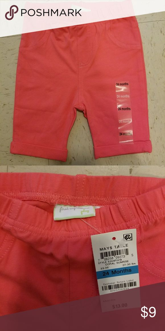 First impressions coral capris Brand new! Please let me know if you have any questions. Feel free to make an offer! First Impressions Bottoms