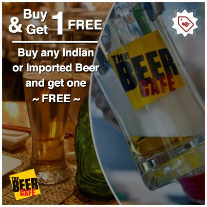 Go to #TheBeerCafe chandigarh and get one free beer when you buy one